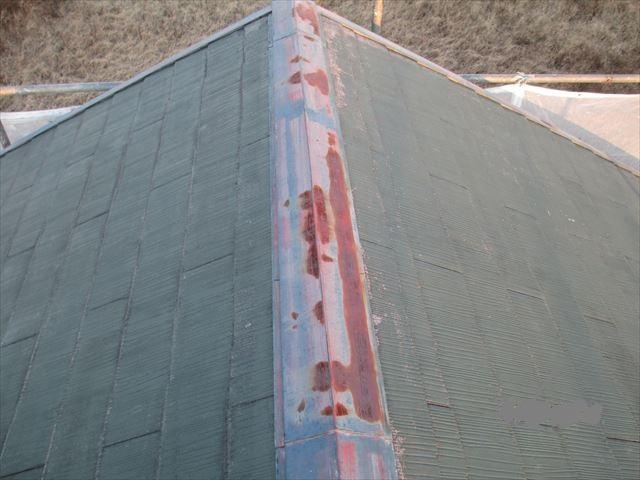 塗装前のスレート屋根 A様