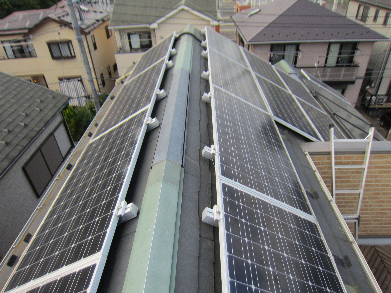 屋根にありソーラーパネル