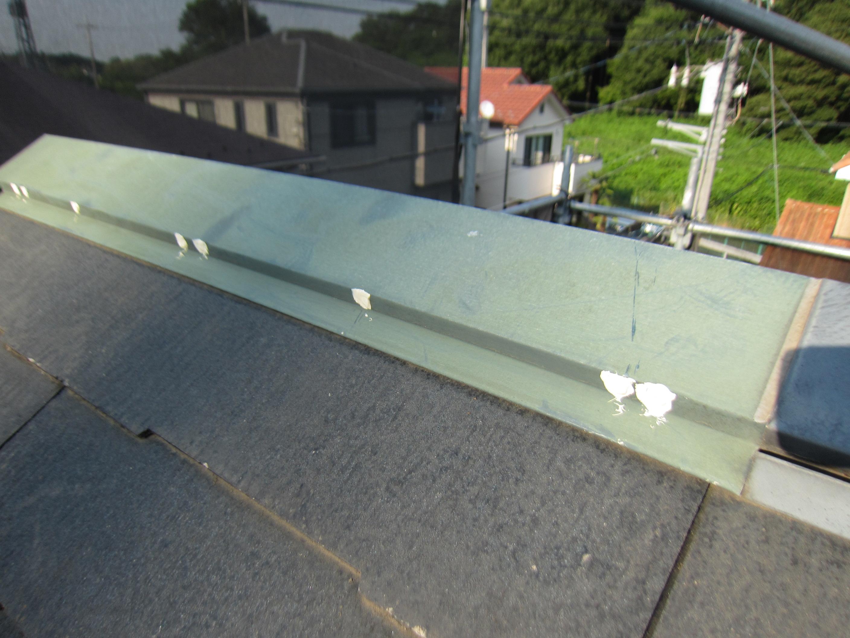 屋根棟包みの釘浮き補修