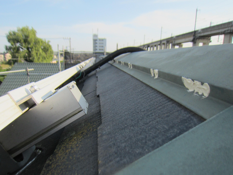 屋根棟包みの釘浮き補修2