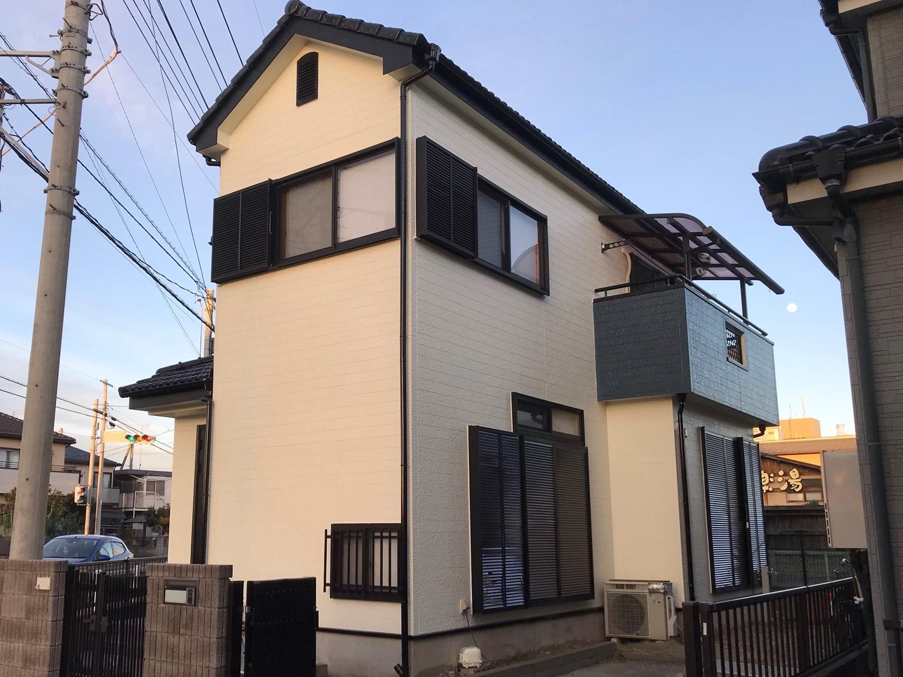 上尾市本町外壁塗装工事後全景