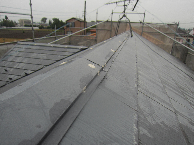 スレート屋根の塗装前補修