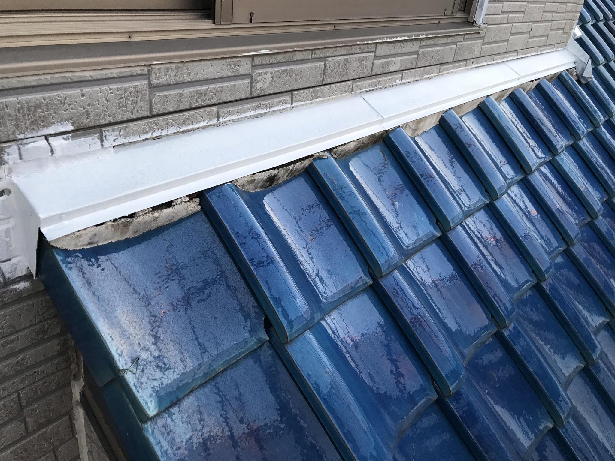伊奈町外壁塗装鉄部2階水切り下塗り