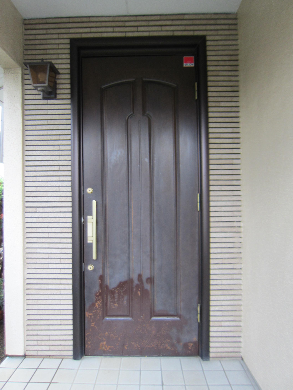 玄関ドア塗膜剥離