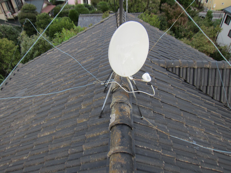 屋根アンテナ点検