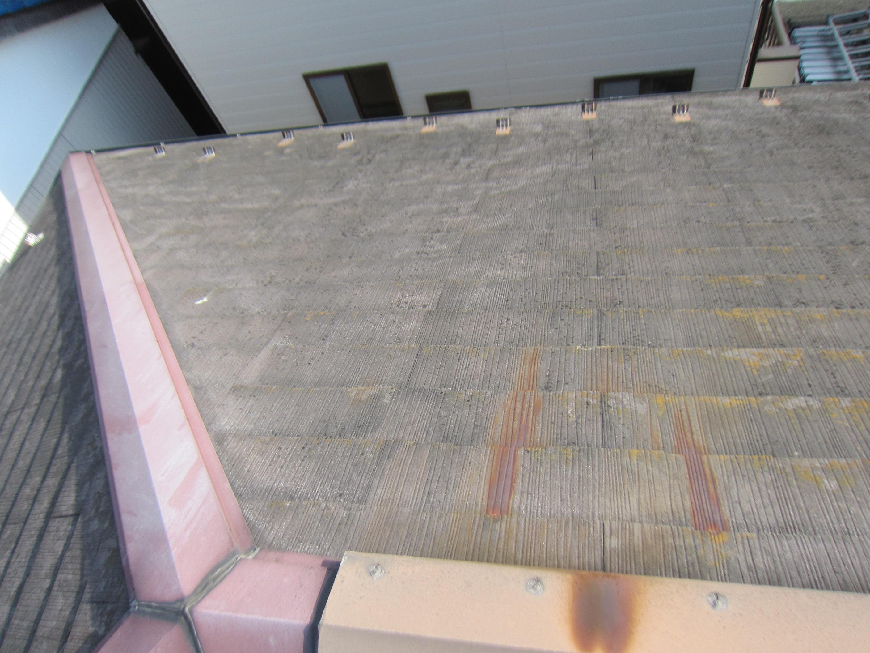 春日部スレート屋根全体の劣化