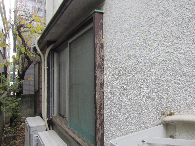 木製窓枠の劣化