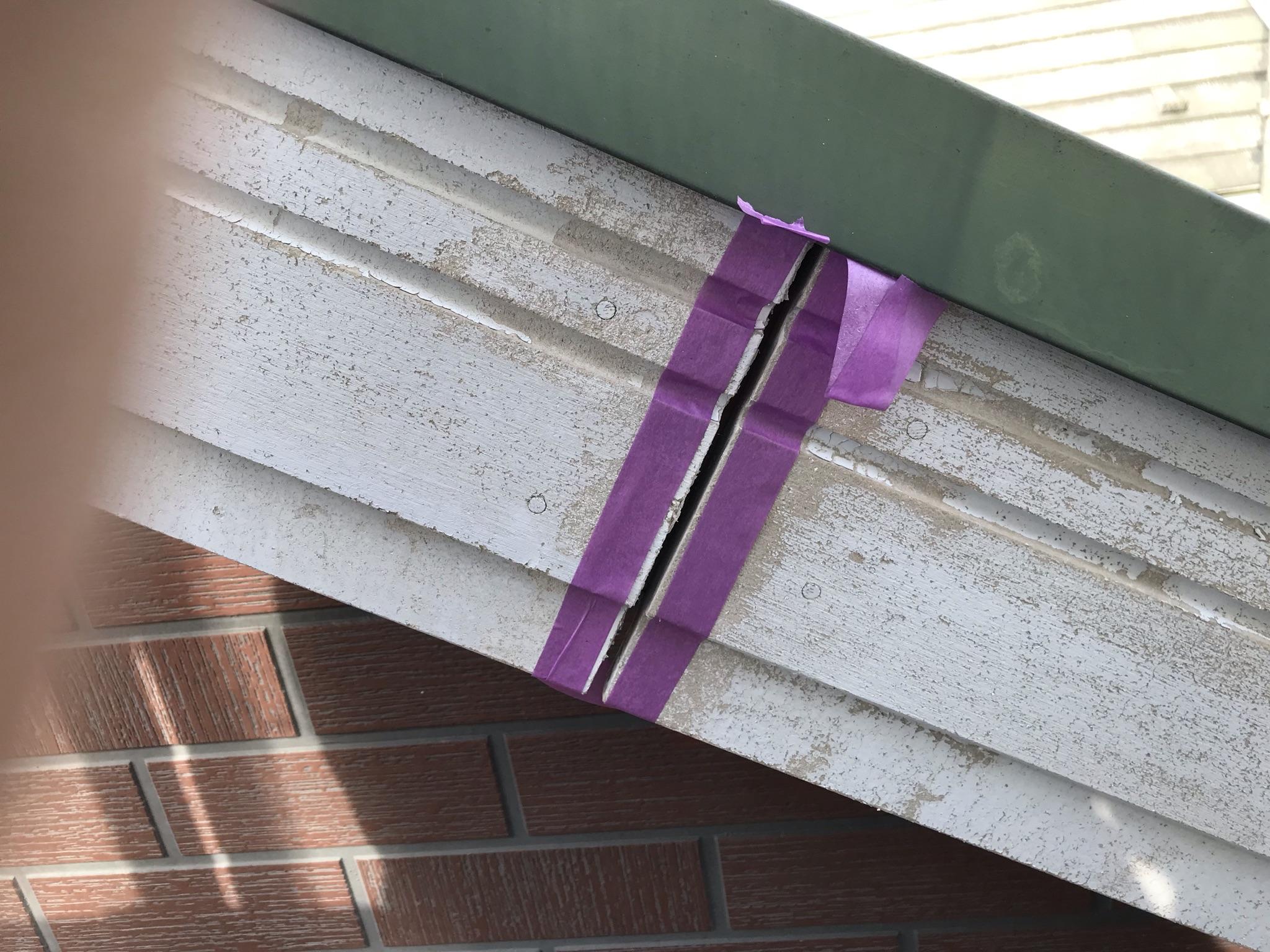 伊奈町輸入住宅外壁塗装前に破風板補修その2