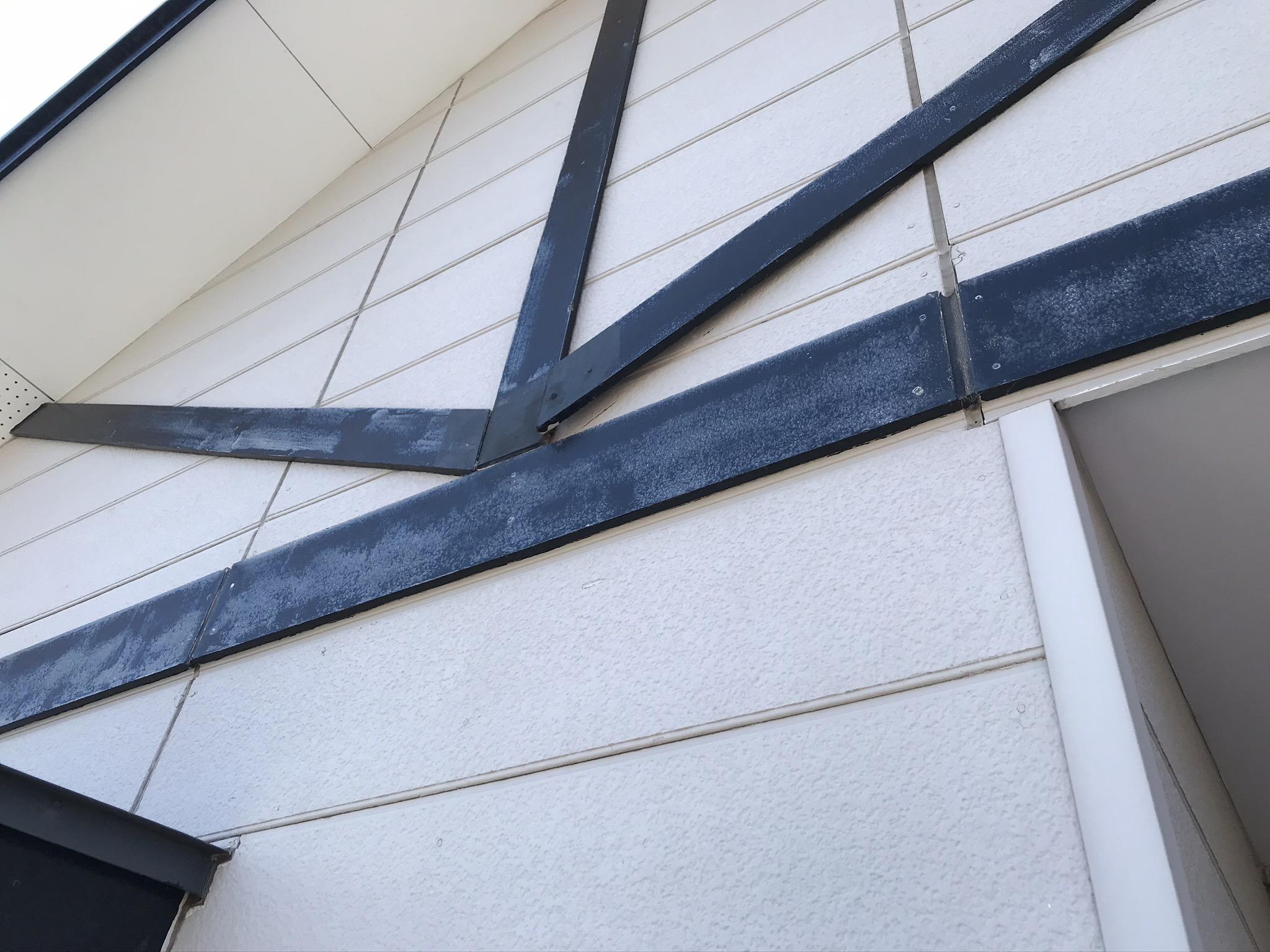 上尾市市サイディング外壁の化粧帯