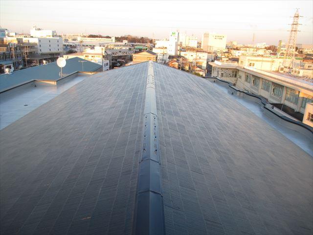 さいたま市北区 Hマンション様 屋根上塗り後